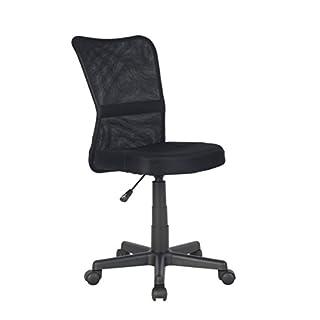 SixBros. Bürostuhl Drehstuhl Schreibtischstuhl Schwarz H-298F/2064