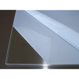 B&T Metall Acrylglas PMMA XT Platte transparent, UV-beständig, beidseitig foliert | 4,0 mm stark | Standardformat Größe 50 x 100 cm (500 x 1000 mm)