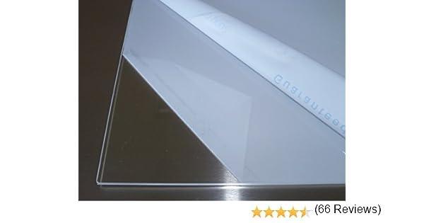 B/&T Metall Verre acrylique en PMMA XT Transparent /À la coupe de 4/mm d/épaisseur Rev/êtement r/ésistant aux UV des 2/c/ôt/és Plexiglas/®