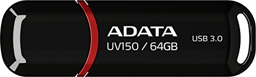 Adata UV150 USB 3.0 64GB Pen Drive (Black)