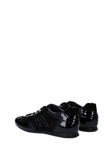 HXW05701687IU3B999 Hogan Sneakers Femme Cuir Verni Noir Noir