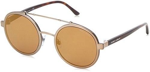 Armani Herren 0ar6070 Sonnenbrille, Brushed Bronze/Brownmirrorbronze, 56