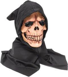 Bristol Novelty bm295Kapuzen Skull Maske, eine Größe