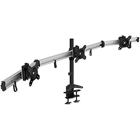 HFTEK® MP230C-L Soporte para 3 tres monitor desk mount bracket control center Soporte de escritorio para TFT LED LCD Pantalla 15