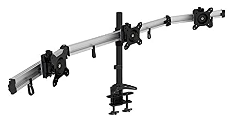 Support 3 Ecrans - HFTEK MP230C-L Support de bureau pour 3