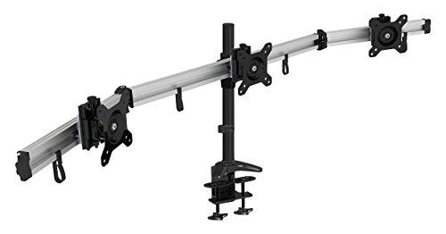 Preisvergleich Produktbild HFTEK 3-Fach Monitorarm - Tischhalterung für 3 Bildschirme von 15 – 27 Zoll mit VESA 75 / 100 (MP230C-L)