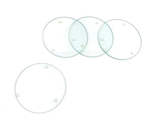 Glasuntersetzer rund 100 mm 4 Stück -