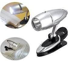 Bullet Shaped Focus Adjustable Clip LED Light Reading Light