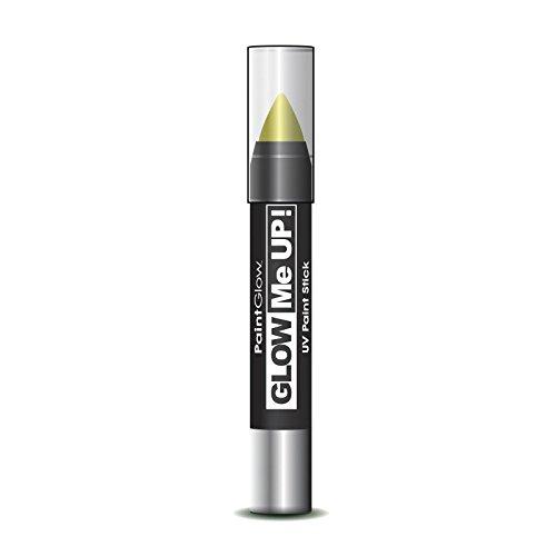 NEU Schminkstift Paint Glow UV, gelb, (Anzug Glow Kostüme)