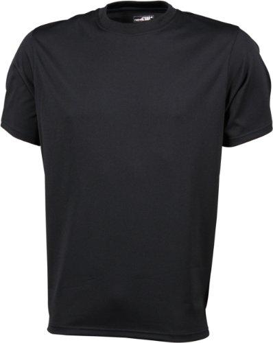 James & Nicholson Herren Langarmshirt Funktions T-Shirt Mens Active Schwarz - Schwarz