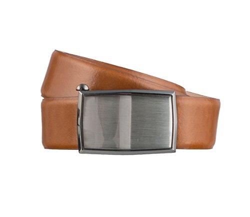 LLOYD Men's Belts Gürtel Herrengürtel Ledergürtel Cognac 3155, Farbe:Braun, Länge:95