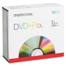 memorex-dvd-r-double-layer-recordable-discs-dvdr-dl-8x-85gb-10-in-pack-by-mem