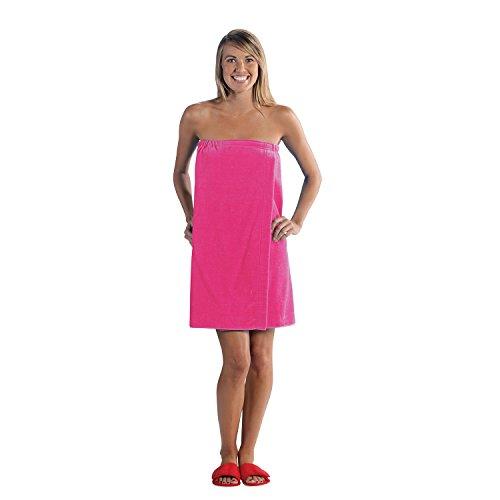 Terry Town Damen Terry Velours Spa Wrap, Hot Pink, Eine Größe