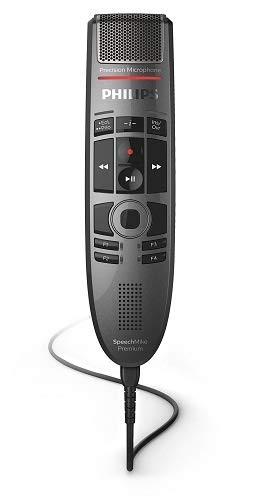 Philips SMP3700 SpeechMike Premium Touch, Diktiermikrofon Diktiergerät inkl. Philips Diktier- und Spracherkennungssoftware, ergonomisches Design, Bedienung per sensorischem Bedienfeld, antharzit