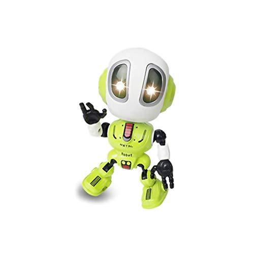 TuHao Ditto Robot Giocattolo per Ragazzi o Ragazze - Mini Robot parlante per Bambini con Corpo Posable e Cambio vocale interattivo Robot da Viaggio, Green, 12 x5.3 x5.5 cm,