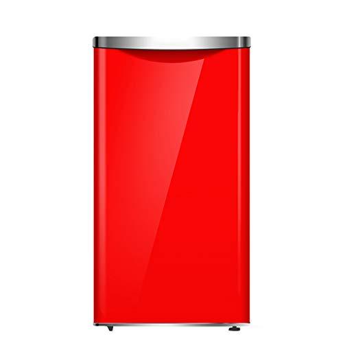Car refrigerator Minikühlschrank, Kleiner eintüriger Kühlschrank 17 * 33 Zoll 92L rechteckiger Gefrierschrank, Abnehmbarer Kleiner Edelstahlkühlschrank, geeignet für das Home Office Apartment -