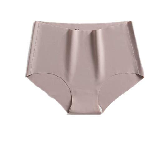 WUJIANCHAO Nahtlose antibakterielle Ice Silk Unterwäsche weibliche Baumwolle Taille Kaffee Farbe XL(3 Stück)