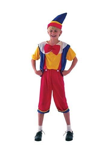Pinocchio - Kinder Kostüm - Klein - 110 bis 122 (Kostüme Pinocchio)
