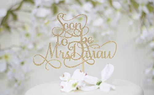 Topper Bridal Shower Cake Topper From Miss To Mrs Cake Topper Bridal Shower Decorations Soon To Be Dr Glitter Cardstock Topper ()