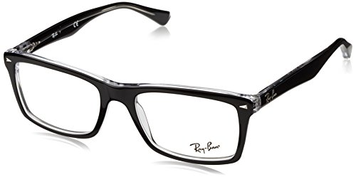 Ray-Ban 5287, Montature Uomo, Nero (Top Black on Transparent), 22956e1c60bc
