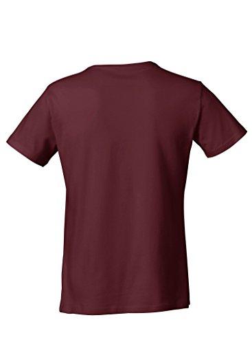 Everbasics Herren T-Shirt Sydney V-Ausschnitt - Funktionsshirt für tagelanges Tragen ohne Waschen - in Vielen Farben Erhältlich! Bordeaux-Rot
