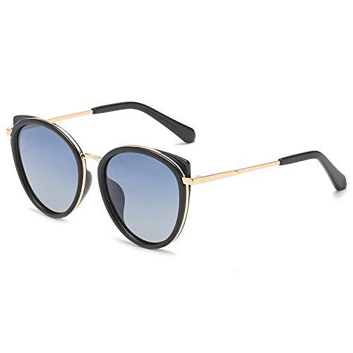 Klassisches Retro-Outdoor-EssentialWilde Frauen Katze Ohr Sonnenbrille Sonnenbrille polarisierte Sonnenbrille-blau