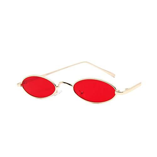 Sport-Sonnenbrillen, Vintage Sonnenbrillen, Oval Sunglasses Small Round Shades For WoMänner 90S Oculos Sunglasses Feminino NEW Trending Fashion Tinted Red Männer Vintage Glasses red
