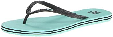 DC Shoes Women's Spray Flip Flops, colum green/black, 4 UK