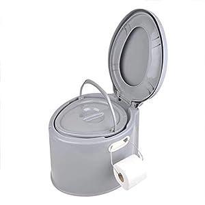Camping Toilette, tragbare Eimertoilette, mit Sitz & Deckel, Komposttoilette 7L