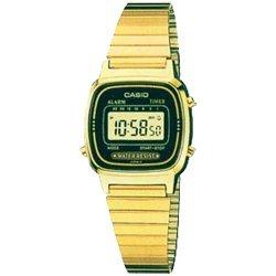 Casio - LA-670WG-1 - Montre Femme - Quartz Digital - Cadran Doré - Bracelet Métal Doré