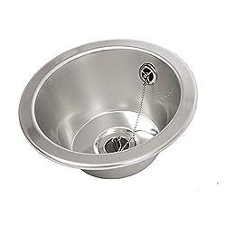 FIN230R Hand basin Round inset bowl 280mm diameter Stainless Steel Sink