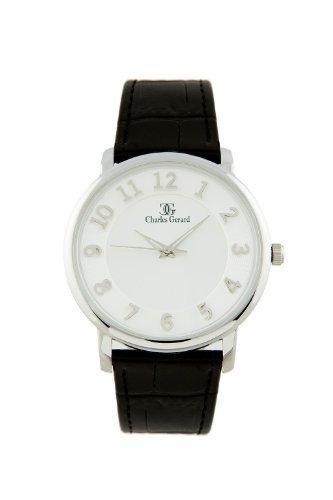 Charles Gerard TEXAS by Oskar Emil Black/white Ultra Slim Gents Watch