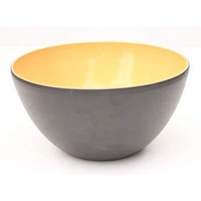 Amazing Cookware Terrakotta-Schale, Keramik, matt schwarz/gelb, 14x 14x 8cm