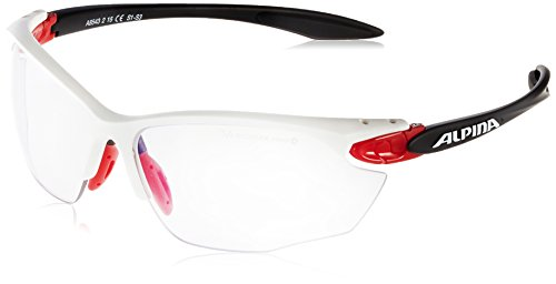 ALPINA Erwachsene Twist Four VLM+ Outdoorsport-Brille, White-Red-Black, One Size