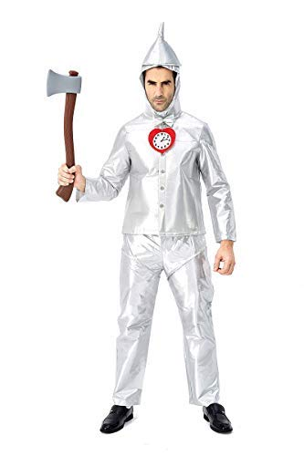 Fanessy. The Wizard of Oz Kostüm Tin Man Outfit Halloween Silber Kostüm für Fasching Halloween Karneval Party Familien Kostüm Kind Erwachsene Verkleidung Cosplay Outfit Set (Herren Wizard Of Oz Kostüm)