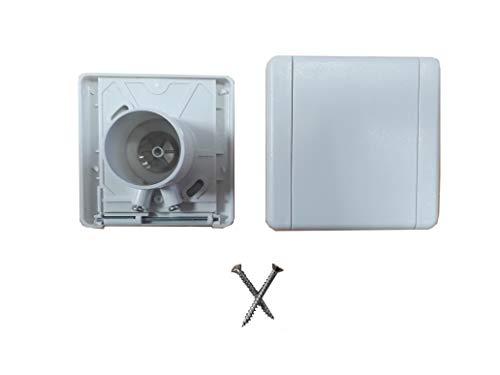Zentrale Saugdose, quadratischer Deckel, 9 x 9 cm, Weiß