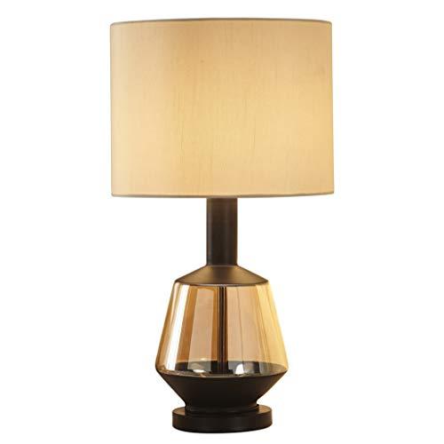 Wohnzimmer Tischlampe Schlafzimmer Nachttischlampe, Bernstein Gold Glas Körper, E27 Led, Höhe 52 cm Lampen und Beleuchtung -