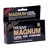Trojan Magnum Large Condoms - Preservativi, taglia L