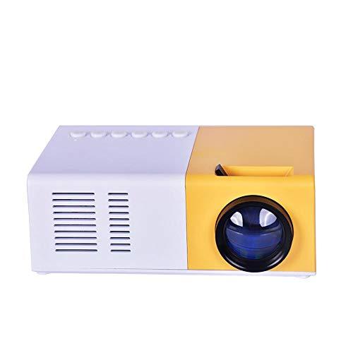 RONDA Mini proyector 1080P, J9 Proyector de Mano 2500 lúmenes Inalámbrico Miniatura más Brillante Multimedia Cine en casa Proyector LED Proyector portátil