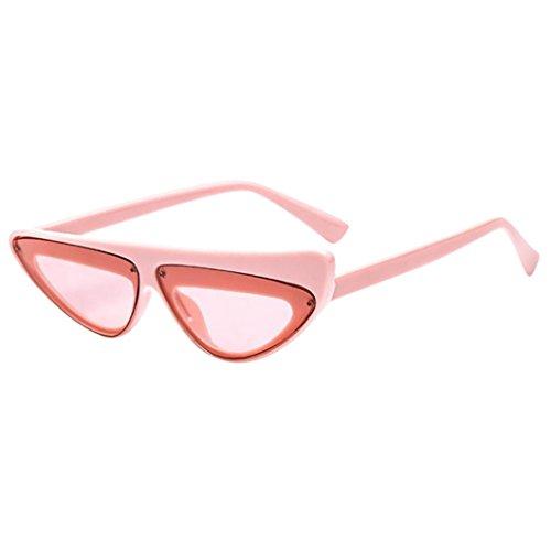 CLOOM�Retro Sonnenbrille Katzenauge Rahmen Damen Frau Mode Sonnebrille Gespiegelte Linse Women Sunglasses Frauen Weinlese Katzenaugen Sonnenbrille Retro ovaler Rahmen UV400 Eyewear-Mode-Damen (A)
