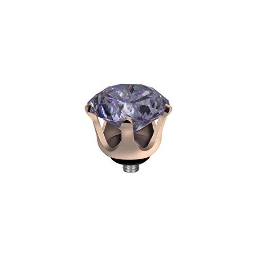 MelanO Twisted Ringaufsatz Krone Roségold Lavender