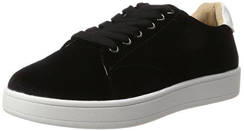 Buffalo Shoes Damen 16T44-4 Velvet Sneaker, Schwarz (Pitch-black 01), 38 EU