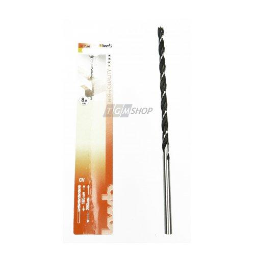 Preisvergleich Produktbild kwb Holzspiralbohrer extra lang Ø 8,0 mm 511808 (CV-Stahl, Länge 250 mm, 2 Vorschneider)