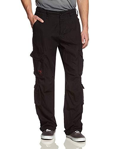 Surplus airborne vintage trouser, pantalone uomo, nero (schwarz gewaschen 63), 4xl