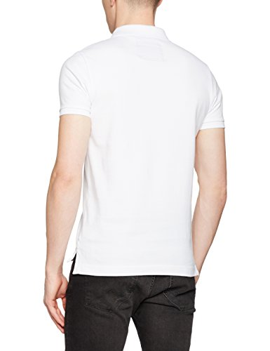 Superdry Herren Poloshirt Coaches Weiß (Optic White)