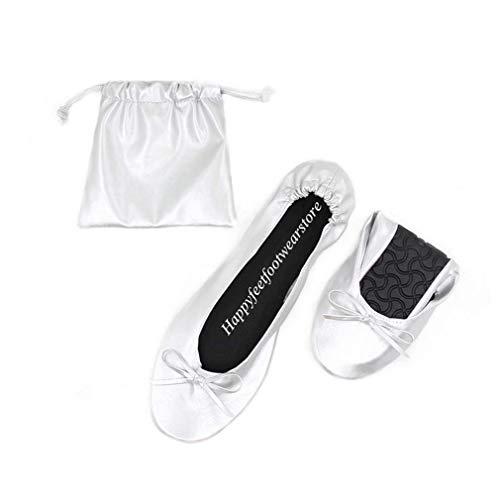 Scarpe pieghevoli da donna. ballerine pieghevoli disponibili in varie misure e colori, argento (siver), 38/39 eu
