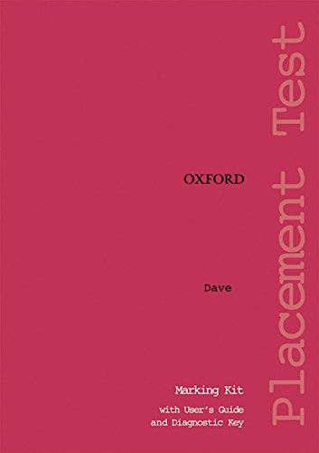 Oxford Placement Tests 1: Marking Kit Test Revised Ed: Marking Kit Test pack 1 - 9780194309066