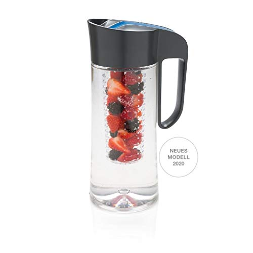 Cucina Sana Tritan 2 Liter Karaffe mit Einsatz - 100% BPA-frei für Wasser, Limonade, Apfelschorle, Früchte, Tee, Säfte und Eiswürfel