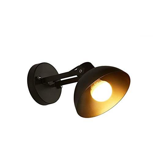 Moderne Geschmiedete Eisen (WHKHY Moderne, Illuminateation Minimalistische Wandlampe aus Holz aus Eisen Geschmiedete Nachttischlampe Woodstairs Walk Lights ', The23.5 * W15 * H14 Zentimeter, weiß,Schwarz)