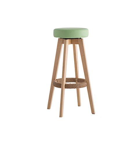 BAR STOOL Hocker - Stuhl aus massivem Holz Empfang drehbarer Barhocker Moderner minimalistischer hoher Schemel (Farbe : D, größe : 45 * 45 * 65.5cm) (Hocker Bars)